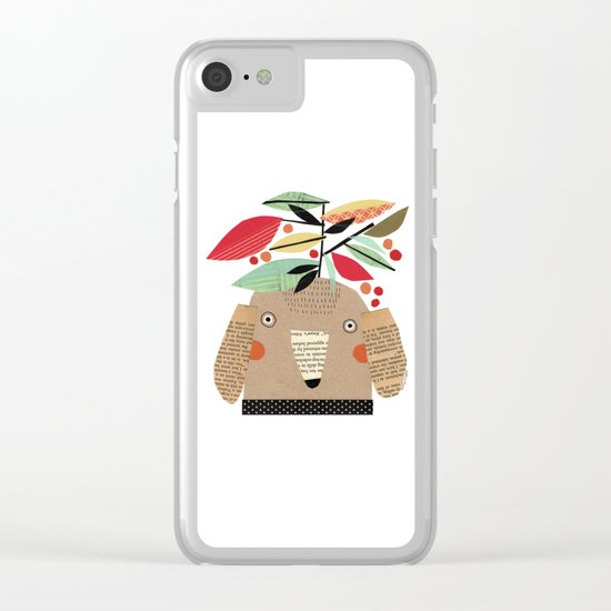 PLANTS ON HEAD Clear iPhone Case