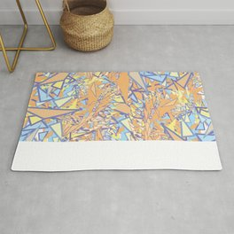 Orange Yellow Blue Rug