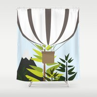 balloon Shower Curtains featuring Balloon by Chicokids
