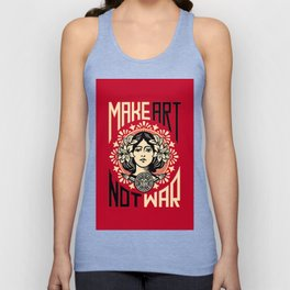 Make art not war Unisex Tank Top