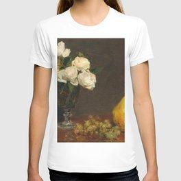 Henri Fantin-Latour - Still Life With Roses And Fruit T-shirt