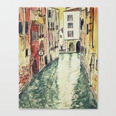 Venice in watercolour Canvas Print