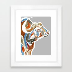 Cape Buffalo (technicolor) Framed Art Print