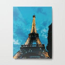 Eiffle Tower(Night) Metal Print