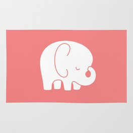 Mod Baby Elephant Coral Rug