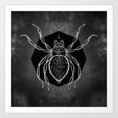 Spider Vignette Art Print