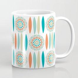 Mid Century Modern Mandala and Leaf Nature Print Coffee Mug
