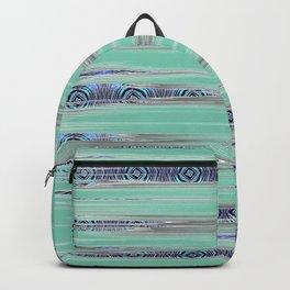 Modern African Tapestry Art Print in Aquamarine Backpack
