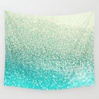 mint Wall Tapestries featuring MINT by Monika Strigel