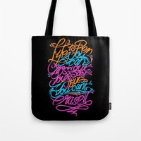 pen Tote Bags featuring PEN by ES427
