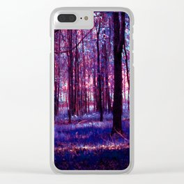 Abstract Forest Clear iPhone Case