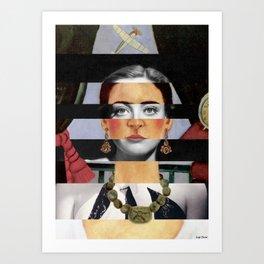 Frida Kahlo's Self Portrait Time Flies & Joan Crawford Art Print