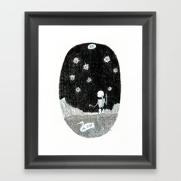 The Star Skeleton Tarot Framed Art Print