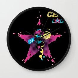 Cyber Lady Wall Clock