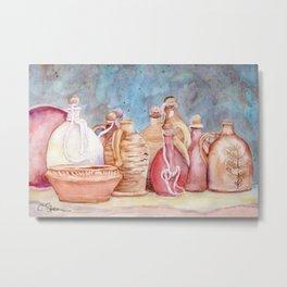 Lithuanian Pottery  WC20150709a Metal Print