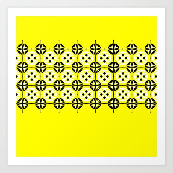 Yellow Fru Fru Art Print