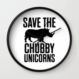 Save The Chubby Unicorns Wall Clock