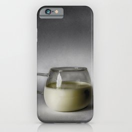 Still life with a cup of milk iPhone Case