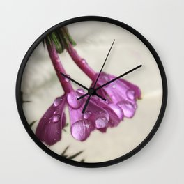 Pink Rain Wall Clock
