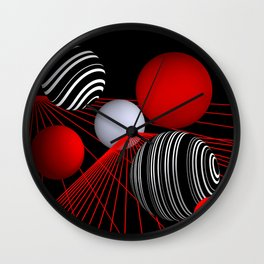 converging lines and balls Wall Clock