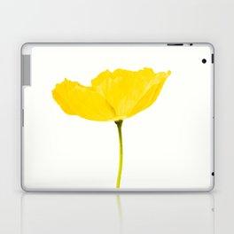 Yellow Poppy White Background #decor #society6 #buyart Laptop & iPad Skin