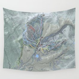 Stowe Mountain Resort Trail Map Wall Tapestry