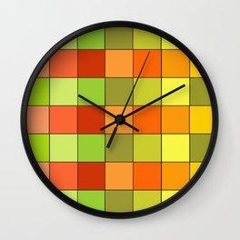 Damier jaune Wall Clock