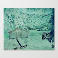 cabin Canvas Prints featuring Cabin by Aaron Carberry
