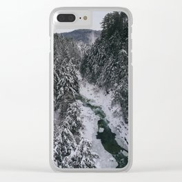 Winter in Vermont Clear iPhone Case