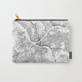 Minimal City Maps - Map Of Pittsburgh, Pennsylvania, United States Carry-All Pouch