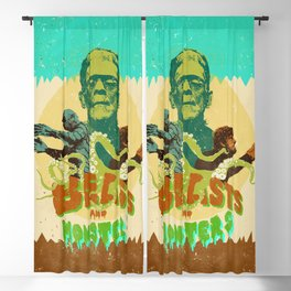 BEASTS AND MONSTERS Blackout Curtain