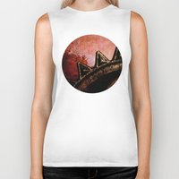 industrial Biker Tanks featuring Industrial Sunset by Bella Blue Photography