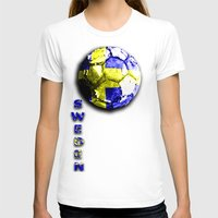 sweden T-shirts featuring Old football (Sweden) by seb mcnulty