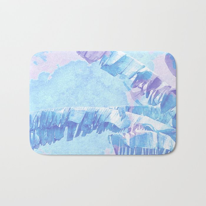 Banana Jungle - Blue & Pink Bath Mat