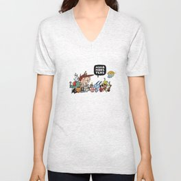 Agus and Monsters Unisex V-Neck