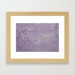 Old wall texture in purple Framed Art Print