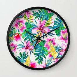 Parrot Beach Wall Clock