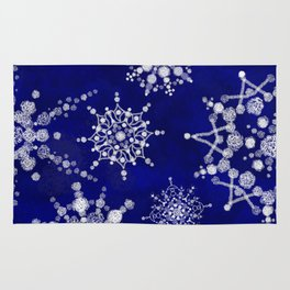 Snowflakes Floating through the Sky Rug