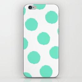 Peppermint Polka Dots iPhone Skin