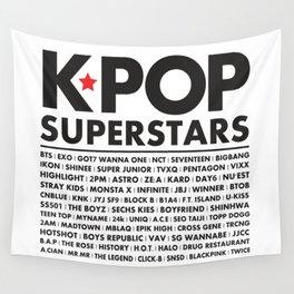 KPOP Superstars Original Boy Groups Merchandse Wall Tapestry