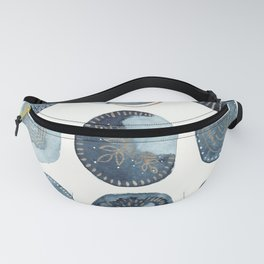 Indigo watercolorInk 04 Fanny Pack