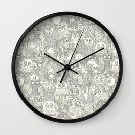 pencil pinatas ivory Wall Clock