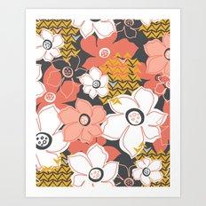 Petals & Pods - Sorbet Art Print