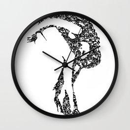 Kanji Calligraphy Art :woman's face #17 Wall Clock