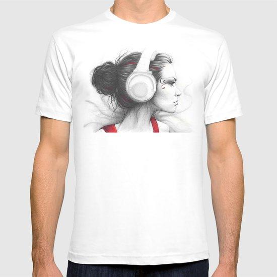 MUSIC Girl in Headphones T-shirt