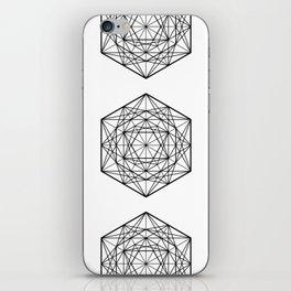Geometric Mandala (Black) iPhone Skin