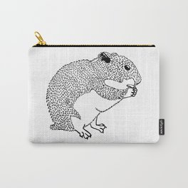 Hungry Hamster Eating A Seed Carry-All Pouch