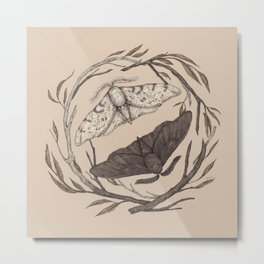 Peppered Moths Metal Print