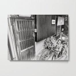 Horie store w/ bikes Metal Print