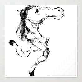Slumokra the two legged Horse Canvas Print